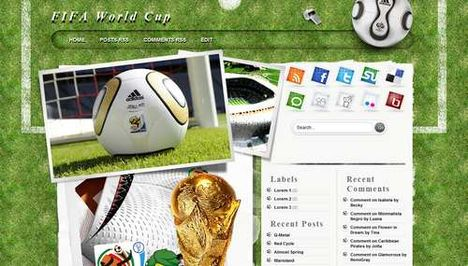 Template Blogger & Wordpress Serba WorldCup 2010 web desain grafis