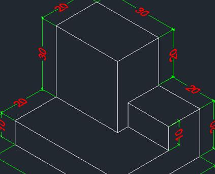 Belajar Autocad : Memberikan Dimensi Pada Objek Isometrik Drawing