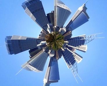 Stereographic Efek Photoshop Yang Bikin Foto Panorama Jadi Bola Bumi