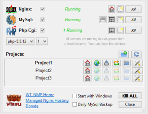 WT-NMP: Web Server Portable, Jalankan Nginx PHP MySQL Di Windows
