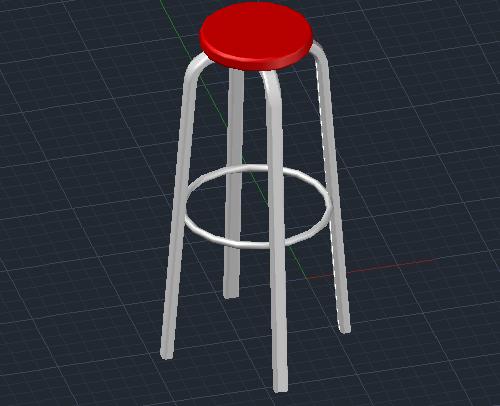 Tutorial AutoCAD: Cara Membuat Objek 3D Kursi Kafe