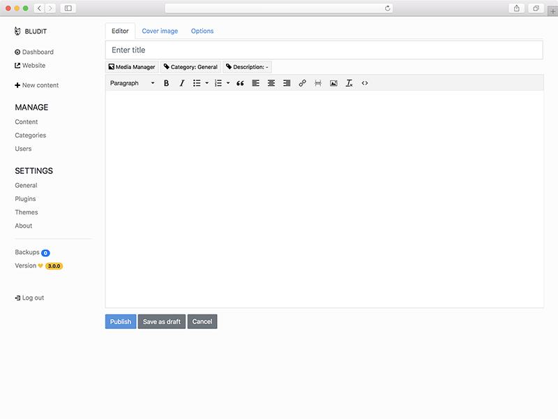 Keren! Bludit CMS Ringan dan Cepat Tanpa Database, Menyimpan Data dalam JSON File