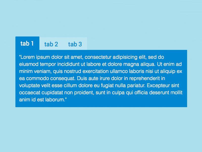Tab CSS Menu Sederhana